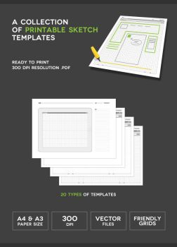Printable Sketch Templates by onlycreativeworks