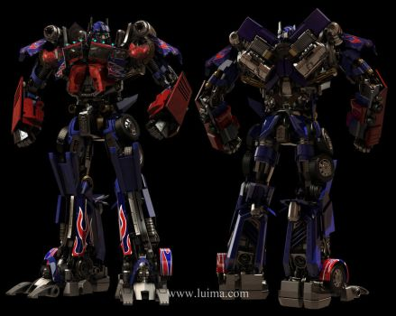 Optimus Prime 3d model by luima23