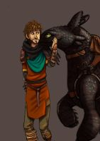 Hiccup and Toothless by fUnKyToEs