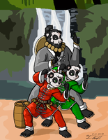 Pan, Lee, and Uncle Tarou by Timothius
