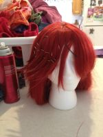 Grell Wig WIP by JavaCosplay