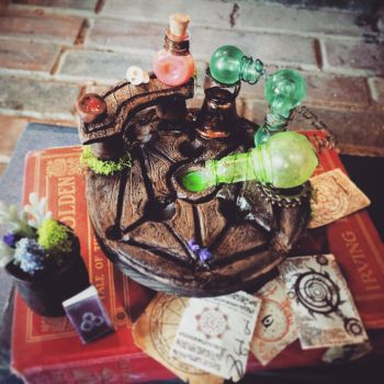 Skyrim Alchemy Table with Accessories  by Ristay