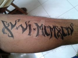 Roman Number Tattoo - Free Hand by wolfboytakao1594
