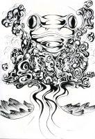 Psychedelic frog by cav