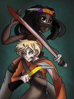 Michonne and Molly by RenaXbones96