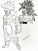 Roklane and SSJ line art and shading by DavidsKovach