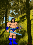 Ax Battler Golden Axe Heromachine by EscribaRegio