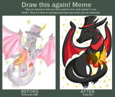 Before and After Meme by UmbreoNoctie