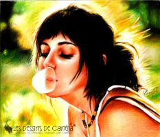 Chewing-gum bubble by Camelia-07