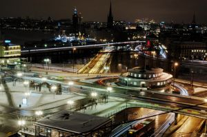 Slussen's Dance at Night by brown-eyed-pea