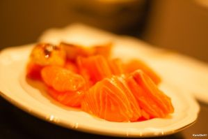 Salmon Sashimi by KuroDot