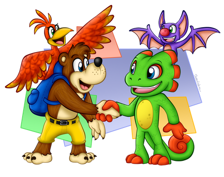 Nice to meet you, Yooka and Laylee! by SuperLakitu