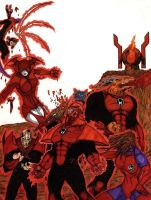 Red Lantern Corps by bleach76