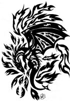 Dragon Tatoo design by Darrea-balinor