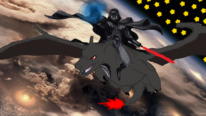 Darth Vader on a shiny Charizard by cory413