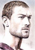 Andy Whitfield mini-portrait by whu-wei