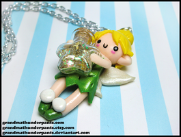 Tinkerbell + Fairy Dust Necklace by GrandmaThunderpants