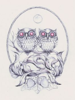 Twinowls by Artjunk