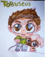 Chibi Tobuscus And His Dog by EclipseQuest2