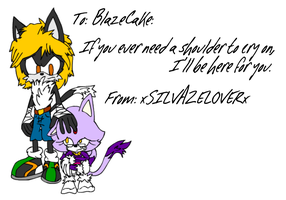 For BlazeCake: A Shoulder to Cry On by BingotheCat