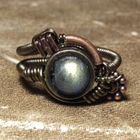 steampunk Labradorite ring by CatherinetteRings