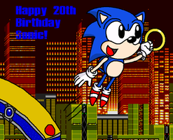 Happy 20th Birthday Sonic by Supersonia