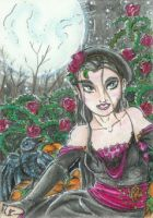 Rose Garden (ACEO) by Keyshe54