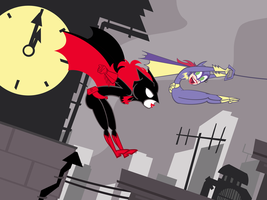 Super Best Friends Forever Batwoman and Batgirl by PixelKitties
