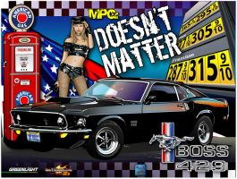 69 BOSS Mustang poster by rjonesdesign