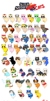 Super Smash Cats! by LyndseyLittle