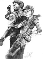 RE5 - Chris and Jill by Biohazard-kirby