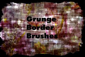 Grunge Border Brushes by B-SquaredStock