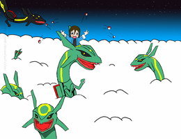 Rayquaza Land by Shiroune