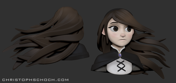 Bravely Default Agnes Sculpt by TheStoff