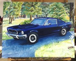 (Commission) 1967-68 Fastback Mustang by Nightsevera