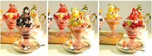 3 Miniature Icecream Coups by ChocolateDecadence