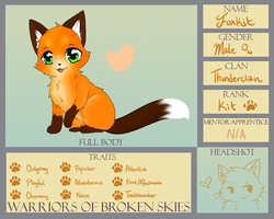 WoBS: Foxkit (Troublemaker) of Thunderclan |'D by Eeveelutions95