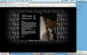 Actress Promotional website by spen