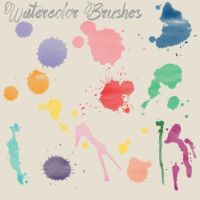 Watercolor Brushes by bitterxsweet123