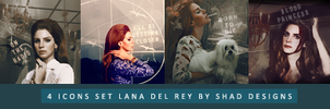 Set 4 Icons Lana Del Rey by shad-designs