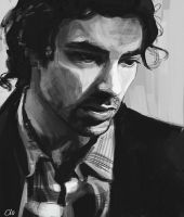 Aidan Turner evening practice by WisesnailArt