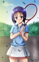 Haruna Sairenji playing tennis by Dianga-12
