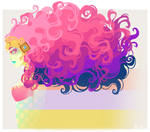 :Girl with Wild Pink Hair: by MMtheMayo