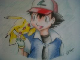 Ash and Pikachu by TheGaboefects