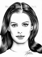Anne Hathaway by MaryCloe