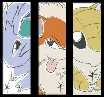 Pokemon Bookmarks by brackenhawk
