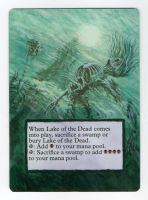 MTG Lake of the Dead Altered Paint by Fallingfreely
