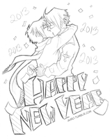 USUK - Happy New Year 2013 by Ahr0