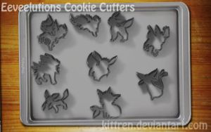 Eeveelutions Cookie Cutters by KittRen