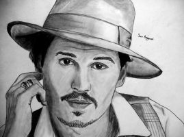 Johnny Depp by sbrigs